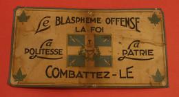 Amos Quebec Canada - Campagne Contre Le Blasphème  Cir: 1949, Publicité 35 X 19.5 Cm - Religion & Esotericism