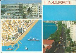 Postcard Map Cyprus Limassol Via Macedonia Yugoslavia.nice Stamps. - Cyprus