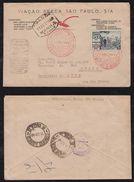 Brazil Brasil 1940 VASP Airmail Cover SAO PAULO To JURUA ACRE !!! - Poste Aérienne