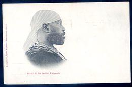 Cpa De Somalie Ménélik II , Roi Des Rois D' Abyssinie    SEP17-37 - Somalia