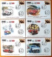 ITALIA ITALY 2017 1000 MIGLIA MILLE MIGLIA 6 Event Covers Fdc One Thousand Miles Car Race UNIQUE - 6. 1946-.. Repubblica