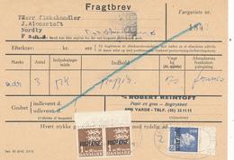FRAGTBREV / ESBJERG - 1969 , Paketmarken , Postfaerge - Parcel Post