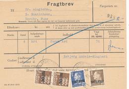 FRAGTBREV / ESBJERG - 196? , Paketmarken , Postfaerge - Parcel Post