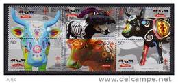 Mexique.les Vaches (Xochitl, Vaca Catrina, Iola, Tilcajete, Etc)  6  T-p Neufs ** Sculptures De Vergara & Saldivar. - Farm