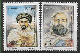 2001 ALGERIE 1299-300** Résistance Populaire - Algeria (1962-...)