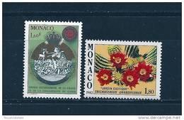 Monaco Timbres De 1982  Neufs** N°1338 Et 1339 - Neufs