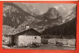 NEL-04 Pralognan Vieux Chalet Et Massif De La Vanoise Circulé En 1955, Tampon Touristique Alpinisme Site Idéal ETE HIVER - Pralognan-la-Vanoise