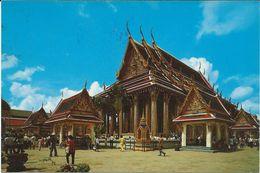Thailand  Postcard ( Temple ) AIR MAIL Via Macedonia.Yugoslavia.nice Stamp - Thailand