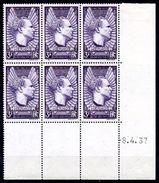 FRANCE - YT N° 338 Bloc De 6 Coin Daté - Neuf ** - MNH - Cote 120,00 € - Lire Descriptif - - 1930-1939