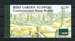 IRELAND 1990 IRISH GARDEN FLOWERS COMMEMORATIVE STAMP BOOKLET - SG SB36 - Libretti