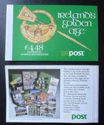 IRELAND - 1989 IRELAND'S GOLDEN AGE - STAMP BOOKLET (4-panes MNH) - Libretti
