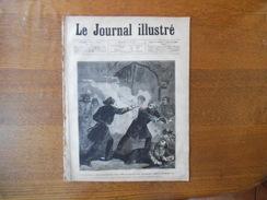 LE JOURNAL ILLUSTRE DIMANCHE 25 JUIN 1876 ASSASSINAT DES MINISTRES DU SULTAN MOURAD V,LES FÊTES D'HARFLEUR,LA CATASTROPH - 1850 - 1899