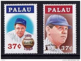 Palau, (Sc #781-82) MNH, (Set Of 2)  Babe Ruth, Baseball     (2004) - Africa (Other)