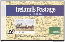 IRELAND 1990 IRELAND'S POSTAGE A HISTORY £6.00 BOOKLET SB35 - Libretti