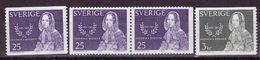 LITERATURE WRITER ÉCRIVAIN SCHRIFTSTELLERIN WOMEN RIGHTS FREDRIKA BREMER SWEDEN SUEDE SCHWEDEN 1965 MI 540 541 MNH - Schrijvers