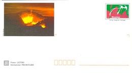 France - Reunion Island - Ile De La Reunion, Volcano, Volcan Piton De La Fournaise Eruption, Postage Paid, Unused - Réunion (1852-1975)