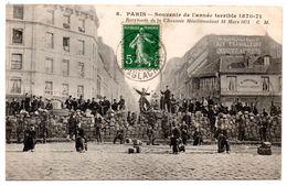 75 - PARIS - Souvenir De L'année Terrible 1870-71 - Barricade De La Chaussée Menilmontant - Altri