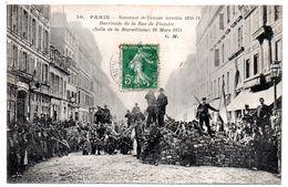75 - PARIS - Souvenir De L'année Terrible 1870-71 - Barricade De La Rue De Flandre - Frankrijk