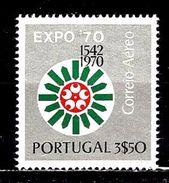 PORTUGAL Aer11** 3,50c Argent Et Multicolore Exposition Universelle D'Osaka - Poste Aérienne