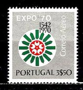 PORTUGAL Aer11** 3,50c Argent Et Multicolore Exposition Universelle D'Osaka - Neufs