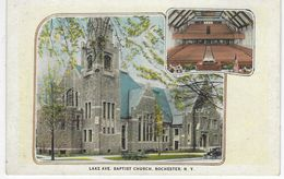 CPA ETATS UNIS ( Amerique ) -  LAKE AVE BAPTIST CHURCH - ROCHESTER - NEW YORK - Rochester