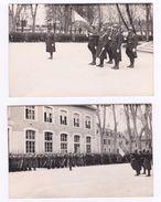 Ecole Militaire SAINT CYR Ou Chars Combat 39-40 Promotion PEGUY Officiers Drapeau Casque Adrian - Documents