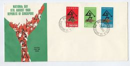 1968 SINGAPORE FDC Stamps NATIONAL DAY Cover - Singapore (1959-...)