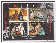 0443 Turkmenistan 1999 Akira Kurosawa Japanese Movie S/S MNH - Cinema