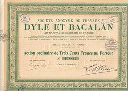 Action Ancienne - Sté Anonyme De Travaux Dyle Et Bacalan - Titre De 1921 - - Industrie