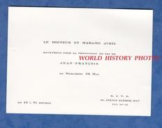 Carte Ancienne Années 1950 - Docteur AVRIL - Profession De Foi De Leur Fils Jean François - Avenue Kleber Paris 16e - Communion