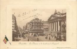 BRUXELLES - La Bourse Et Le Boulevard Anspach - Avenues, Boulevards