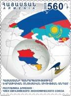 Armenia MNH** 2015 Mi 937 Membership Of The Republic Of Armenia In The Eurasian Economic Union - Armenia