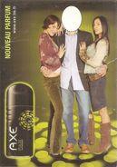 Pub Axe-nouveau Parfum-avec Emplacement Pour Mettre Photo Personnelle Du Visage - Advertising