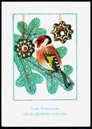 A7337 - Alte Glückwunschkarte - Weihnachten - Vogel Tannenzweig - DDR 1973 - Ohne Zuordnung