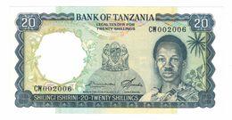 Tanzania 20 Shillings, 1966 UNC . - Tanzanie