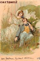 BELLE SERIE DE 6 CPA : COUPLE CHARME AMOUR FANTAISIE GAUFREE EMBOSSED 1900 - Koppels