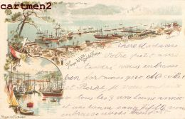 RIJEKA GRUSS FIUME CROATIE 1900 ILLUSTRATEUR PONSER BUDAPEST ITALIA 1900 - Croazia