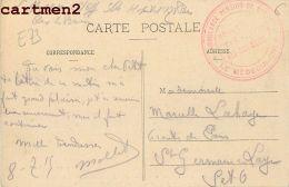 AIX-LES-BAINS CACHET MILITAIRE AMBULANCE PENSION DE DAMES HOPITAL MILITAIRE MARCOPHILIE MILITARIA GUERRE 73 SAVOIE - Aix Les Bains