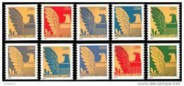 Etats-Unis / United States (Scott No.3792-801 - Aigle / Eagle) (o) Presorted First Class Cpl Set - Etats-Unis