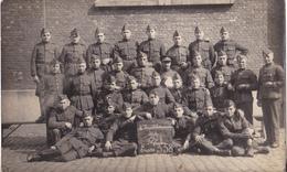 CARTE PHOTO MILITARIA  REGIMENT DE BELGIQUE 1928 4 EME INTENDANCE - Militaria