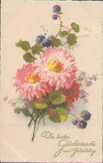 Glückwunsch Geburtstag, Blumenstrauss, Künstler-Postkarte, Zeichner, Klein, Catharina, Meissner & Buch, Leipzig - Klein, Catharina