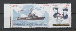 FRANCE / 2009 / Y&T N° 4423/4424 ** Ou P4423 ** : Porte-Hélicoptères Jeanne D'Arc (2 TP Se Tenant) X 1 BdF G - Unused Stamps