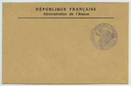 Désannexion De L'Alsace-Lorraine. Cachet Thann Sur Enveloppe Vierge Administration De L'Alsace . - WW I
