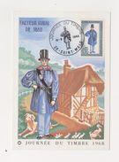 Carte / Facteur Rural De 1830 / Saint Malo / 16-3-68 - Cartes-Maximum
