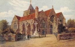 RYE  SAINT MARYS CHURCH  CARTE EN RELIEF - Rye