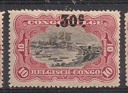 CONGO BELGE 105 MNH NSCH ** Surcharge Double ,25 & 0.,25 // Dubbele Opdruk - Congo Belge