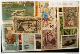POLYNESIE FRANçAISE  LOT 50 TIMBRES  Tous Differents Neufs ET Obliteres, Bonne Cote - Collections, Lots & Séries