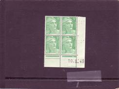 N° 809- 5F Marianne De GANDON - L De K+L - 2° Tirage Du 9.8.49 Au 25.8.49 - 10.08.1949 - - Coins Datés