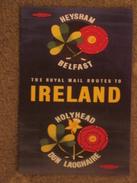 BRITISH RAIL HEYSHAM-BELFAST ROUTES TO IRELAND - MODERN POSTER ADVERT - Fähren