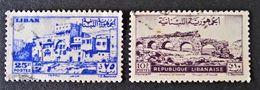 EMISSIONS 1946/48 - OBLITERES - YT 27 + 36 - Liban